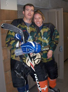 tom & shannon between games in a tournament