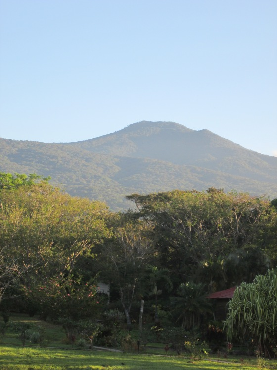 Volcan Rincon (or one of the other 4 craters!) serenely poses as a backdrop to the Rincon de la Vieja Mountain Lodge